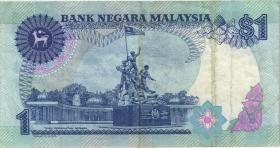 Malaysia P.27a 1 Ringgit (1989) (3)