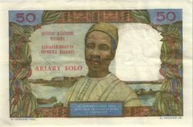 Madagaskar P.61 50 Francs = 10 Ariary (1969) (1)