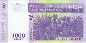 Madagaskar P.89b 1.000 Francs 2004 (1)
