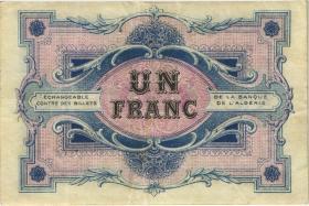 Algerien / Algeria 1 Franc 1917 Chambre de Commerce de Constantine (3+)