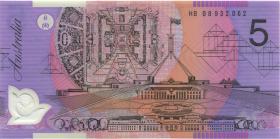 Australien / Australia P.57f 5 Dollars (20)08 HB 08 Polymer (1) last prefix