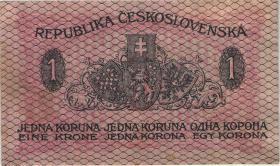 Tschechoslowakei / Czechoslovakia P.006 1 Krone 1919 (1/1-)