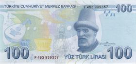Türkei / Turkey P.226d 100 Lira 2009 (2020) (1)