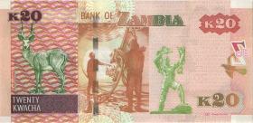 Sambia / Zambia P.52b 20 Kwacha 2014 (1)