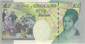 Großbritannien / Great Britain P.391b 5 Pounds 2002 EL last series (1)