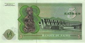 Zaire P.21a 5 Zaires 24.11.1976 (2+)