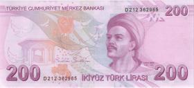 Türkei / Turkey P.227d 200 Lira 2009 (2020) (1)