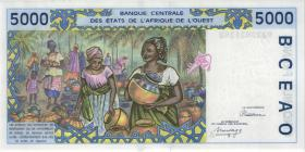 West-Afr.Staaten/West African States P.113Aa 5.000 Francs 1992 (1/1-)