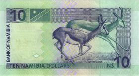Namibia P.04b 10 Dollars (2001) Serie A (1)