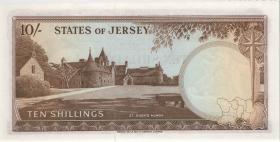 Jersey P.07 10 Shillings (1963) (1) Serie A