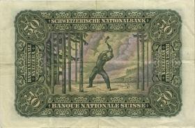 Schweiz / Switzerland P.34m 50 Franken 1942 (3)