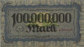 R-WTB 20: 100 Millionen Mark 1923 (3+)