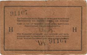 """R.923b: Deutsch-Ostafrika 1 Rupie 1915 J (3-) """"Besitzzeichen"""""""