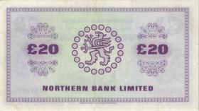 Nordirland / Northern Ireland P.190c 20 Pounds 1987 (2)