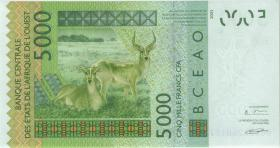 West-Afr.Staaten / West African States  P.717Kd 5.000 Francs 2006 Senegal (1)