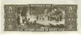 Brasilien / Brazil P.176c 5 Cruzeiros (1964) (1980) (1)