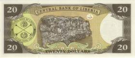 Liberia P.28d 20 Dollars 2008 (1)