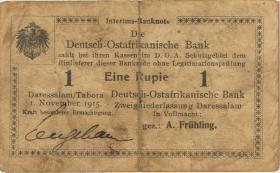 R.918e: 1 Rupie 1915 G mit Handzeichen (3)