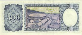 Bolivien / Bolivia P.166 500 Pesos Bolivianos 1981 (2)