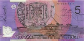 Australien / Australia P.57d 5 Dollars (20)06 HB 06 Polymer (1) last prefix