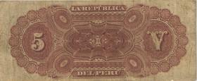 Peru P.004 5 Soles 1879 (4)