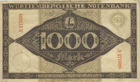 R-WTB 12a: 1000 Mark 1922 (3-)