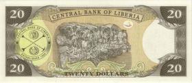 Liberia P.28c 20 Dollars 2006 (1)