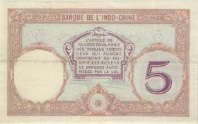 Tahiti P.11c 5 Francs (1927) (3+)