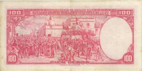 Uruguay P.043 100 Pesos (1967) (3+)