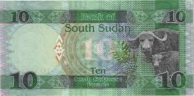 Süd Sudan / South Sudan P.12b 10 South Sudanese Pounds 2016 (1)