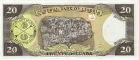 Liberia P.28a 20 Dollars 2003 (1)