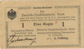 R.918c: 1 Rupie 1915 f U. Seidenschwarz (1-)