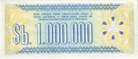 Bolivien / Bolivia P.192C 1.000.000 Pesos Bolivianos 1985 (2)
