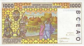 West-Afr.Staaten/West African States P.311Cg 1.000 Francs 1996 Burkina Faso (1/1-)