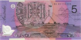 Australien / Australia P.57c 5 Dollars (20)05 BA 05 Polymer (1) 1. prefix
