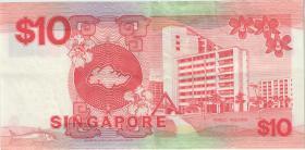 Singapur / Singapore P.20 10 Dollars (1988) (3+)