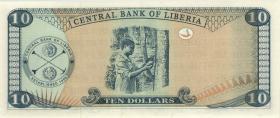 Liberia P.27c 10 Dollars 2006 (1)
