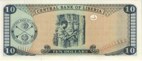 Liberia P.27b 10 Dollars 2004 (1)