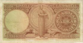 Griechenland / Greece P.182c 10.000 Drachmen 1947 (3-)