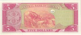 Liberia P.26e 5 Dollars 2009 (1)