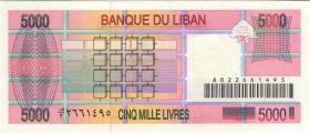 Libanon / Lebanon P.71b 5000 Livres 1995 (1)