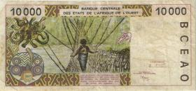 West-Afr.Staaten/West African States P.114Ag 10.000 Francs 1999 (3)