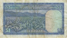 Rhodesien / Rhodesia P.30d 1 Dollar 17.6.1971 (3-)