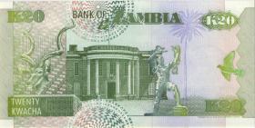 Sambia / Zambia P.36a 20 Kwacha 1992 A/C 0000003 (1)