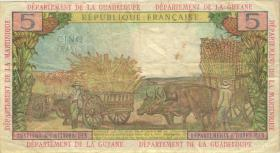Franz. Antillen / French Antilles P.07a 5 Francs (1964) (3)
