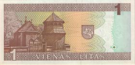 Litauen / Lithuania P.53a 1 Litas 1994 Serie AAA (1)