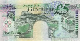 Gibraltar P.29 5 Pounds 2000 MM 000206 Millennium (1)