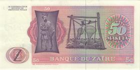 Zaire P.16b 50 Makta 24.6.1977 (2)