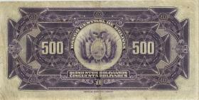 Bolivien / Bolivia P.126 500 Bolivianos L. 1928 (3-)