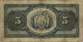 Bolivien / Bolivia P.113 5 Bolivianos (1929) (4)